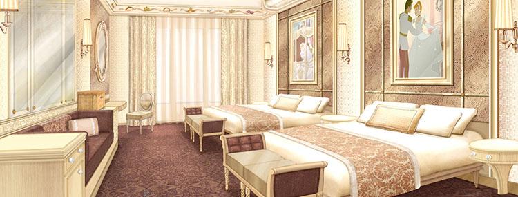 Nieuwe prinsessen kamers tijdens upgrade van het Disneyland Hotel in Disneyland Paris