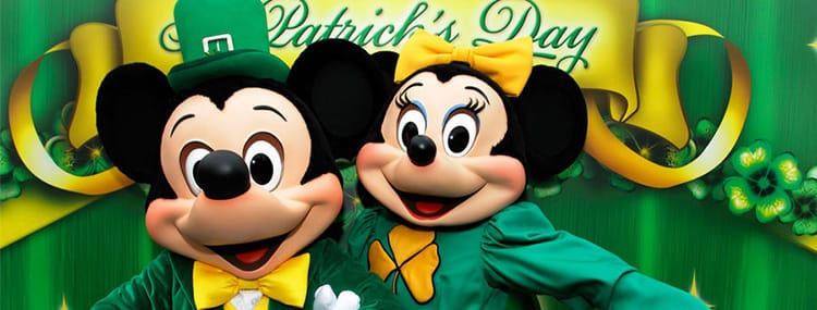 St. Patrick's Day in Disneyland Paris met speciaal entertainment en vuurwerk