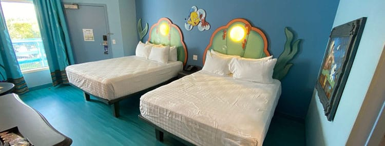 Vernieuwde Little Mermaid kamers bij Disney's Art of Animation Resort in Walt Disney World