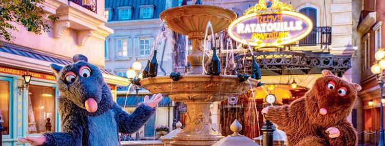 Remy's Ratatouille Adventure in Walt Disney World bij het Franse paviljoen in Epcot