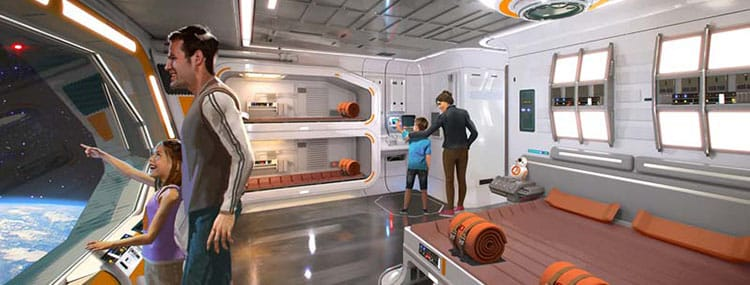 Walt Disney World krijgt all-inclusive Star Wars hotel met kamers in een ruimteschip