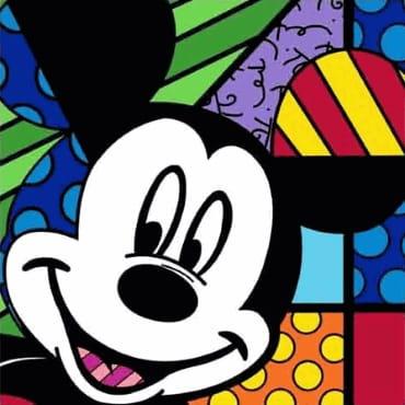 Disney by Romero Britto collectie met kleurrijke beeldjes, mokken en knuffels