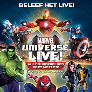Alle superhelden verzamelen tijdens mega-productie 'Marvel Universe LIVE!' in Rotterdam