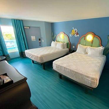 Vernieuwde Little Mermaid kamers bij Disney's Art of Animation Resort in Walt Disney World