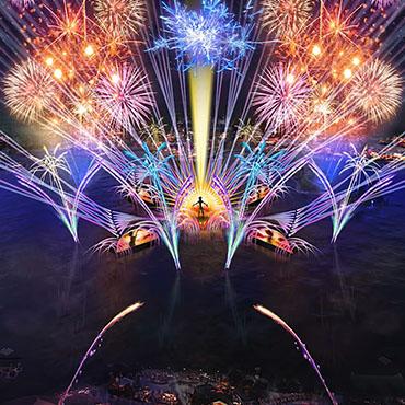 Harmonious avondshow in Walt Disney World met videowalls, lasers en vuurwerk