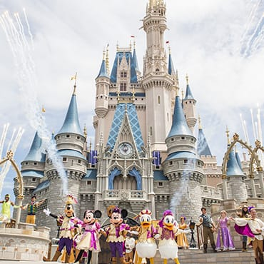 'Mickey's Royal Friendship Faire' show in Magic Kingdom met o.a. Rapunzel en Frozen